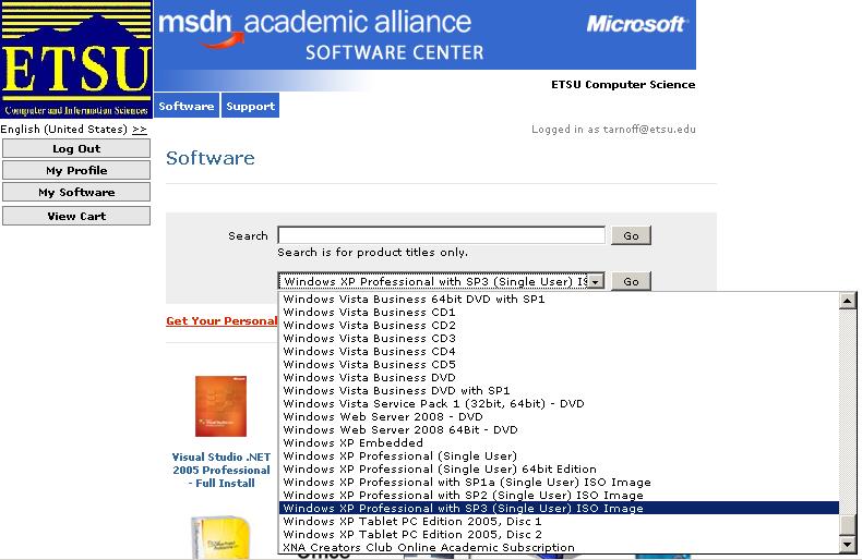 CSCI 2150 -- Windows XP Installation Instructions