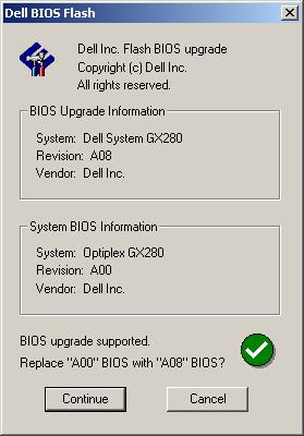 Install bios driver without operating system